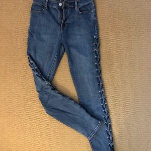 PacSun Pants - Lace up pac sun jeans